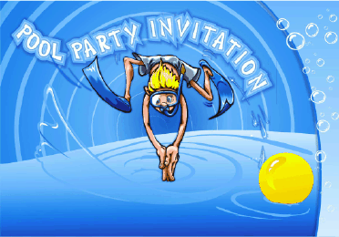 free printable pool party invitations – gangcraft, Party invitations