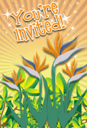 Bird of Paradise Flower Invitation