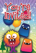 Birthday Monsters Invitation