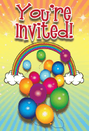 Birthday Rainbow Invitation