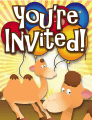 Camel Invitation Small Invitation