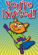 Cat Superhero Invitation