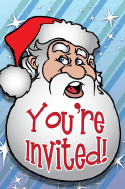 Christmas Santa Claus Invitation