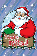 Christmas Santa Invitation