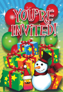 Christmas Snowman Invitation