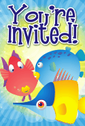Colorful Fish Invitation