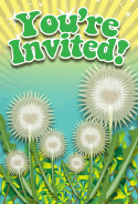 Dandelion Flower Invitation