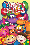 Dinosaurs Kids Invitation