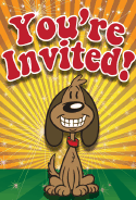 Dog Grin Invitation