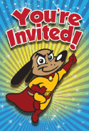 Dog Superhero Invitation