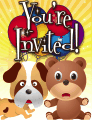Dog and Teddy Bear Small Invitation