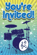 Drum Kit Invitation