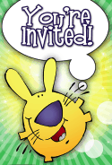 Funny Bunny Invitation