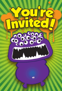 Monster Eyeball Halloween Invitation