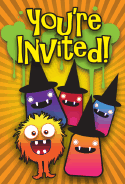 Monster Witch Halloween Party Invitation