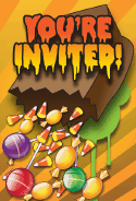 Halloween Candy Bag Invitation
