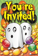 Halloween Ghosts Invitation