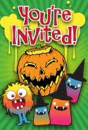 Halloween Jack-o-Lantern Monsters Invitation