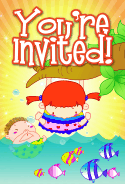 Kids and Fish Invitation
