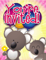 Koala Small Invitation