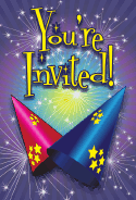 New Year Hats Invitation