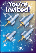 Rocket Ships Invitation