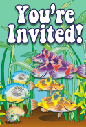 Sea Bass Tropical Fish Invitation