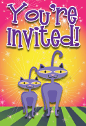 Siamese Cat Invitation