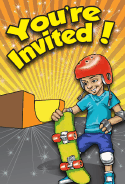 Skateboard Invitation