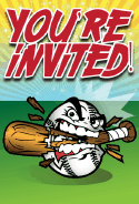 Snarling Baseball Invitation
