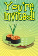 Sushi Tobiko Invitation