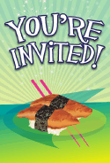 Sushi Unagi Invitation