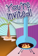 Tropical Fireplace Invitation