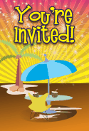 Tropical Umbrella Invitation