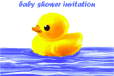 Baby Shower Invitation with Rubber Duck (small)