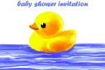 Baby Shower Invitation with Rubber Duck