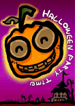 Halloween Party Invitation with Haunted Pumpkin