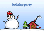 Holiday Party Invitation with Jolly Snowman