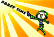 Party Time Invitation Robot and Sunburst (small)