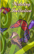 Wedding Invitation with Butterflies