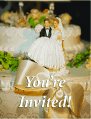 Wedding Invitation with Cake Topper (small)